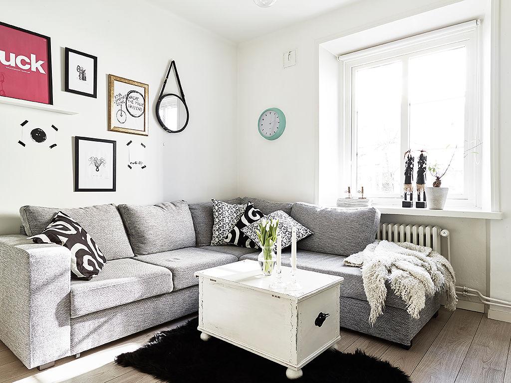 装修百科 装修效果图 装修美图 灰色北欧客厅窗台设计 灰色北欧客厅
