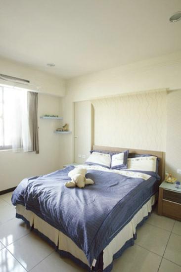 美式装修风格侧卧家居四件套装饰效果图