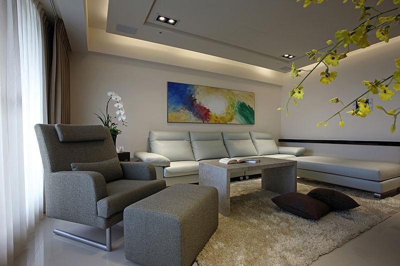 现代风格装修146平公寓效果图