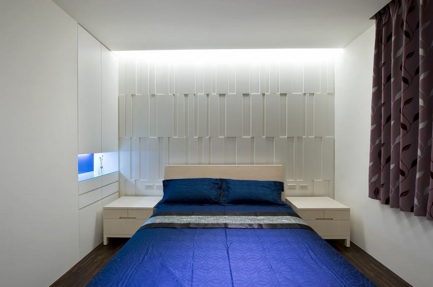 时尚现代设计 卧室床头个性背景墙欣赏
