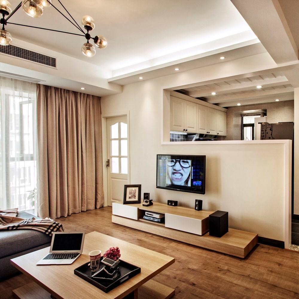 時尚設計北歐客廳電視背景墻半隔斷裝飾圖_裝修百科