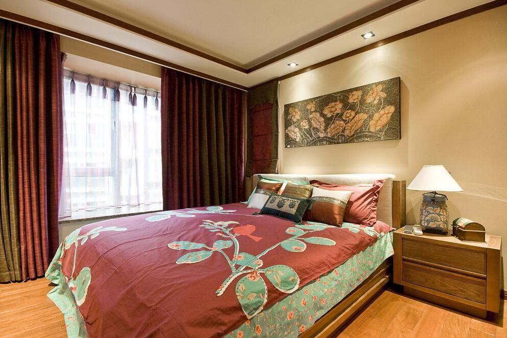 东南亚风情卧室设计装饰效果图