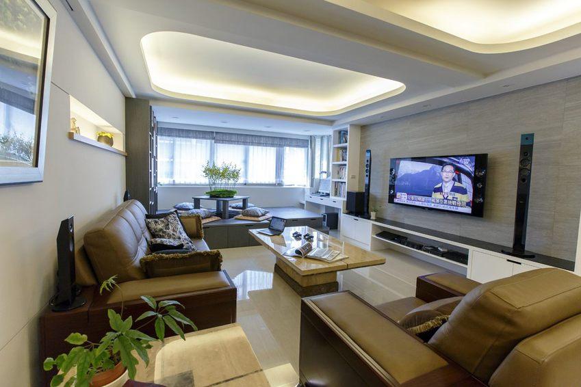 舒適現代客廳整體裝修效果圖