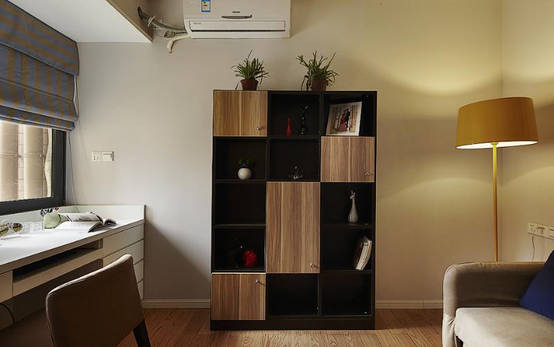 現代簡約書房博古架設計