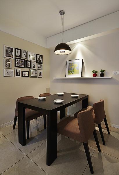 現代簡約餐廳相片墻設計