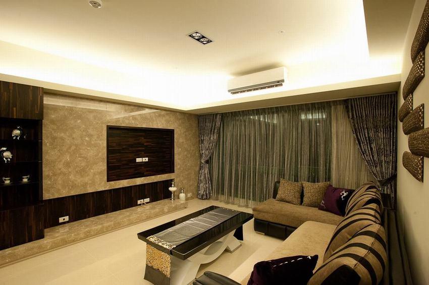 现代风格装修三居室效果图