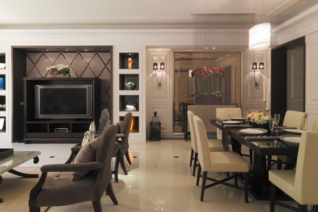后现代风格客厅电视墙设计_装修百科
