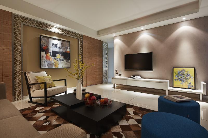 家装现代120平三居装饰设计