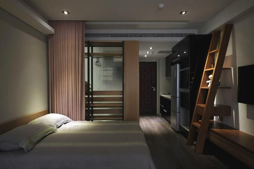 小户型公寓室内现代日式隔断布置效果图_装修百科