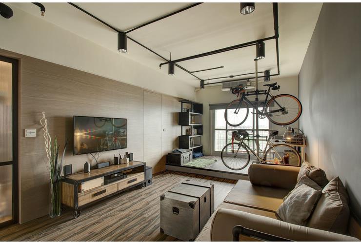 美式复古工业风小户型室内装修设计图