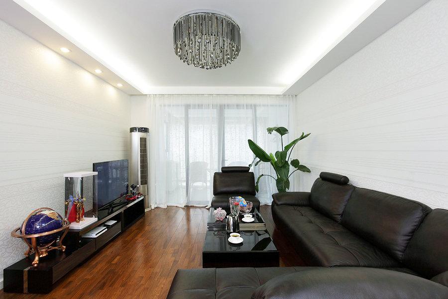 時尚現代客廳黑色家具裝飾圖