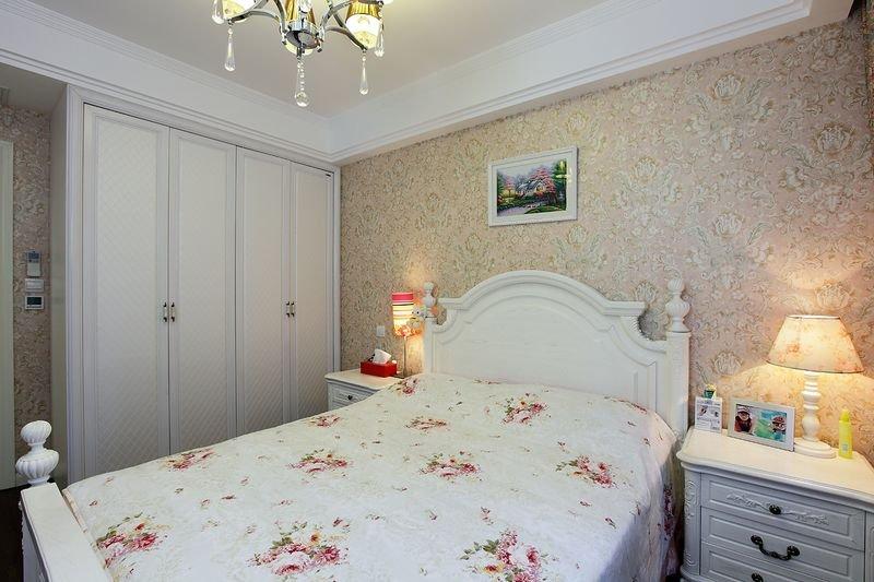 清新唯美欧式卧室白色衣柜装饰效果图_装修百科