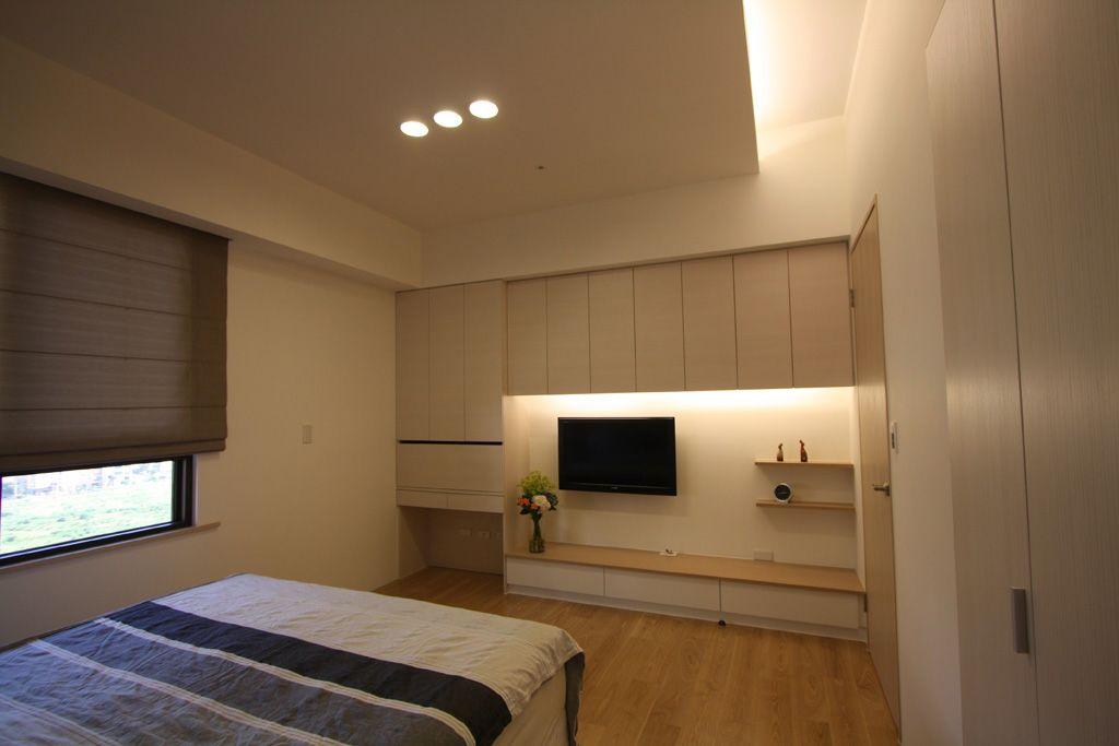简约设计卧室电视背景墙欣赏