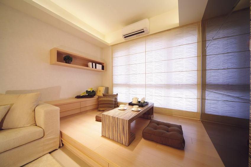 装修百科 装修效果图 装修美图 淡雅简洁日式风格家居室内榻榻米设计