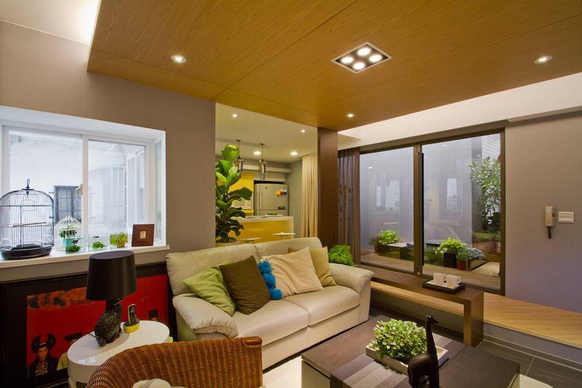 頂層小戶型一居室格局簡約設計裝修案例圖