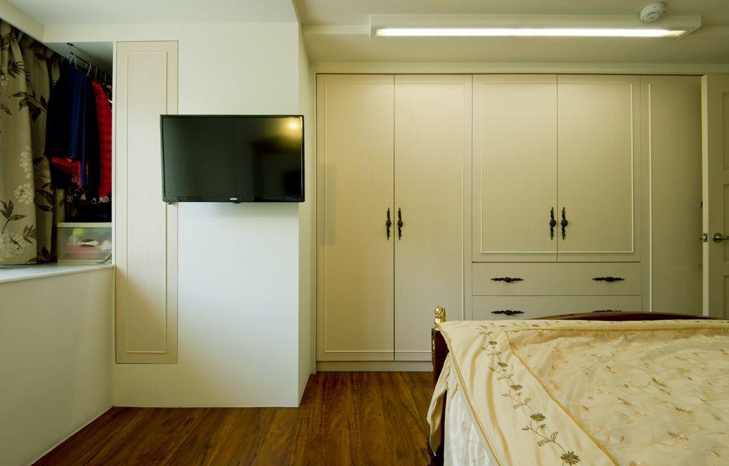 欧式现代卧室橱柜设计装修图_装修百科