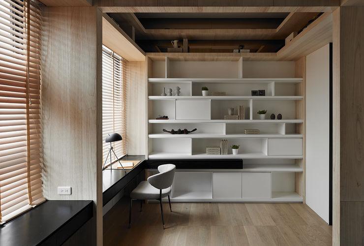 清新純木日式書房設計裝修樣板間