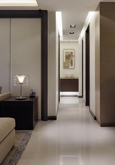現代簡約設計家居室內過道裝修效果圖