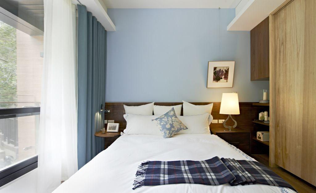 古朴后现代风格卧室窗帘装饰效果图_装修百科