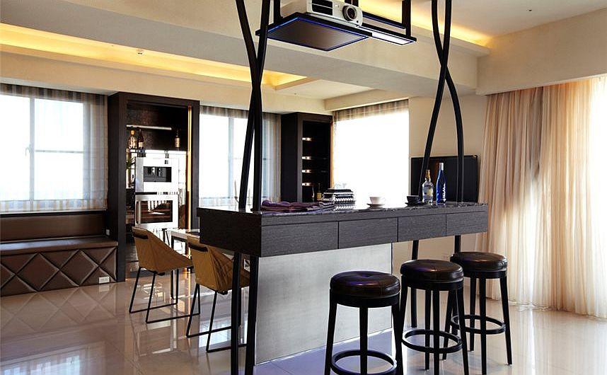 时尚现代餐厅吧台设计