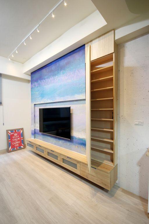 简约创意现代设计电视背景墙装修效果图_装修百科图片