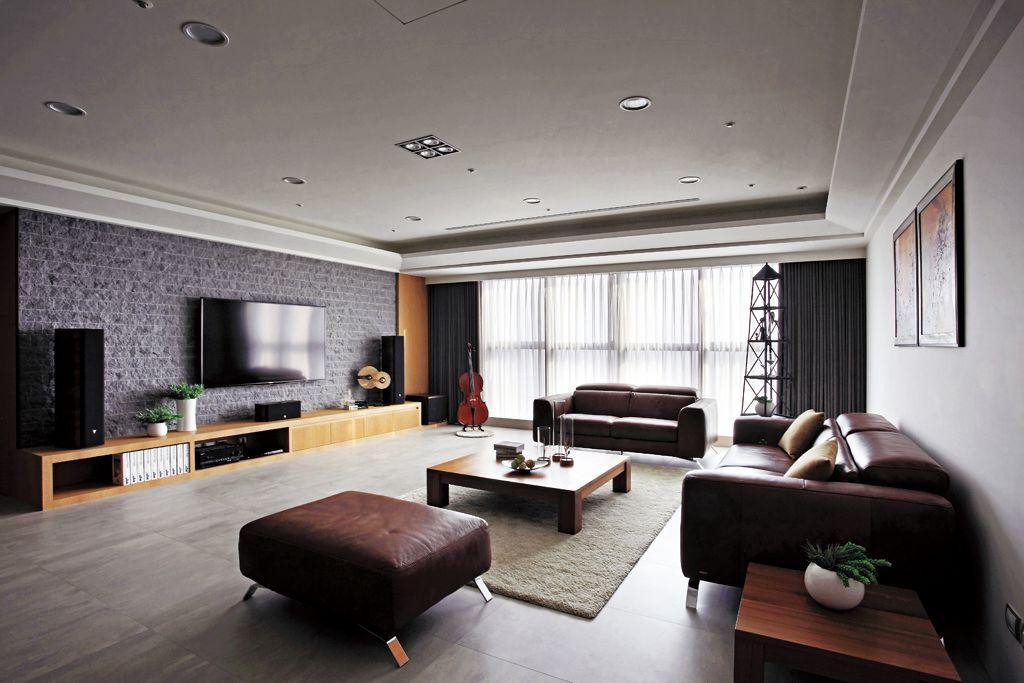 美式轻工业混搭客厅装饰设计