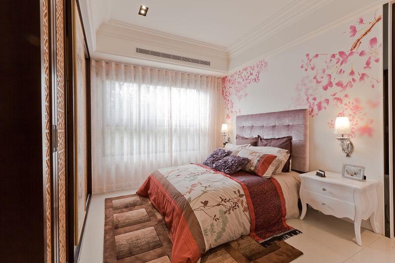 現代中式混搭臥室裝修欣賞圖
