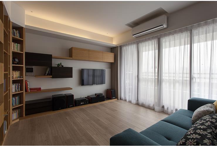 简约现代日式风格公寓客厅窗帘设计_装修百科