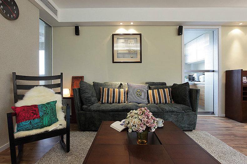 簡樸日式風格客廳裝飾效果圖