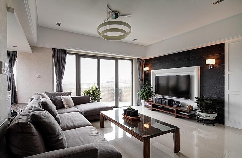 时尚现代客厅电视墙造型设计