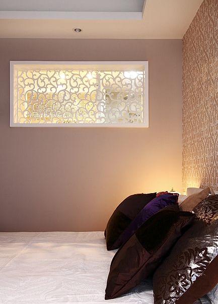 现代家居卧室墙面镂空效果图_装修百科