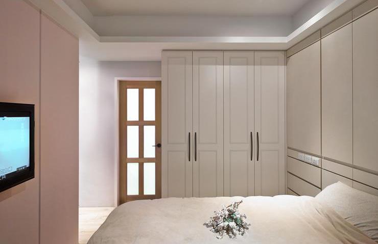 簡潔北歐臥室衣柜設計裝修圖_裝修百科