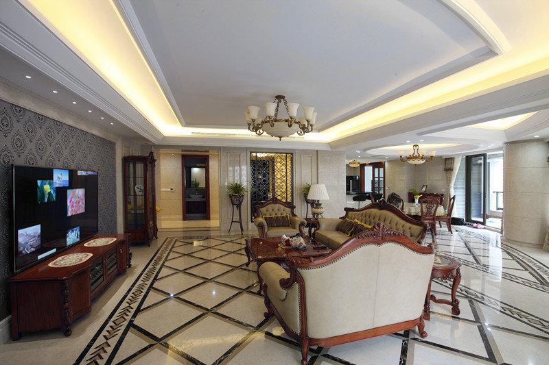家装公寓室内深沉大气欧式风格设计装修欣赏图_装修百科