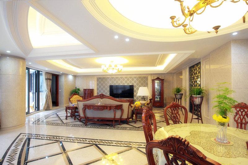 簡約設計美式風格別墅室內裝修圖片