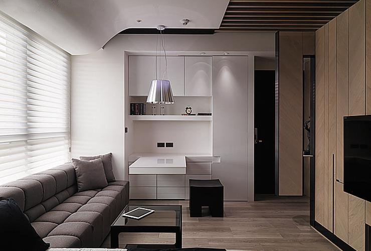 创意现代简约客厅书桌设计_装修百科