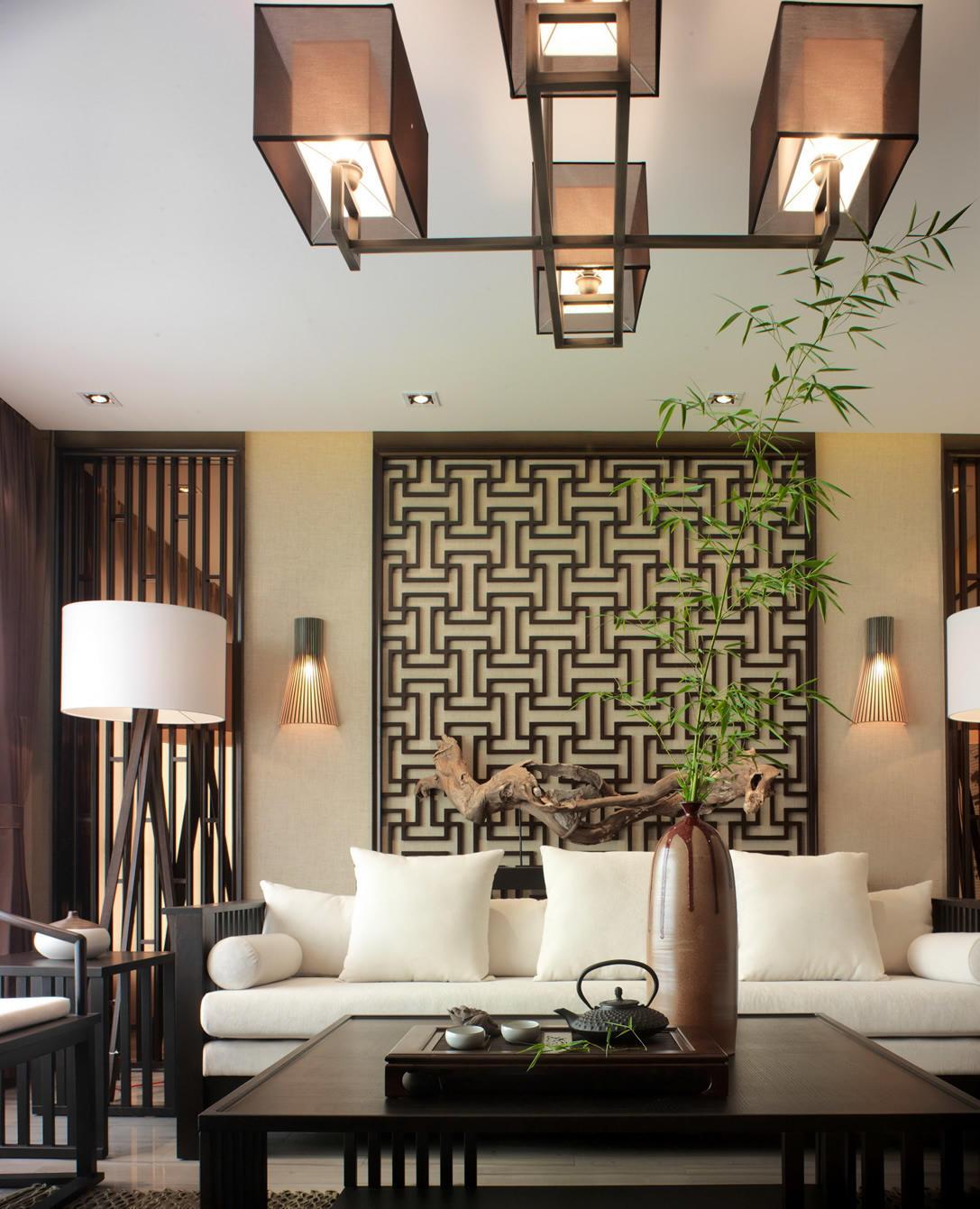 装修效果图 装修图册 典雅休闲中式风格三居室内设计装饰图