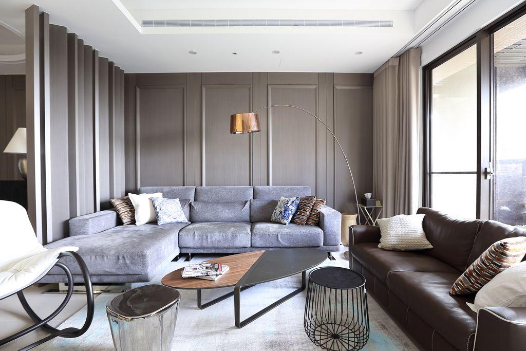 现代100平米公寓室内装饰图