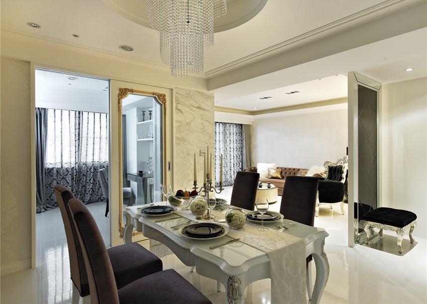 公寓室内欧式设计装修风格隔断效果图_装修百科