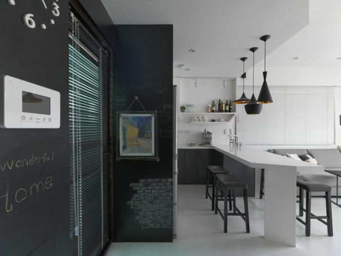 时尚现代家居室内黑板墙设计