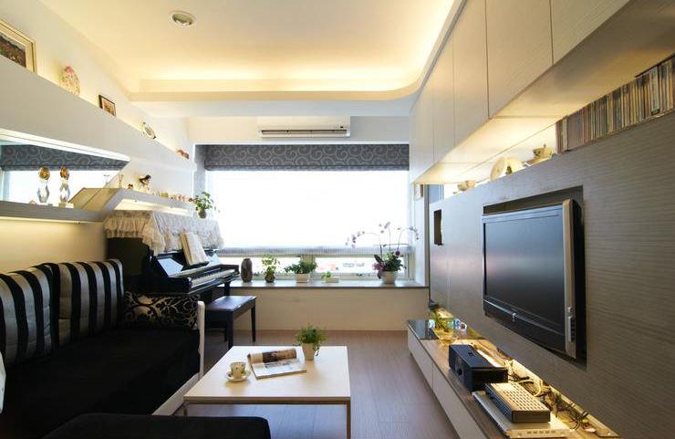 简约现代装修 客厅电视墙设计