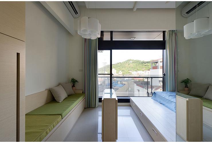 简约单身公寓落地窗设计_装修百科