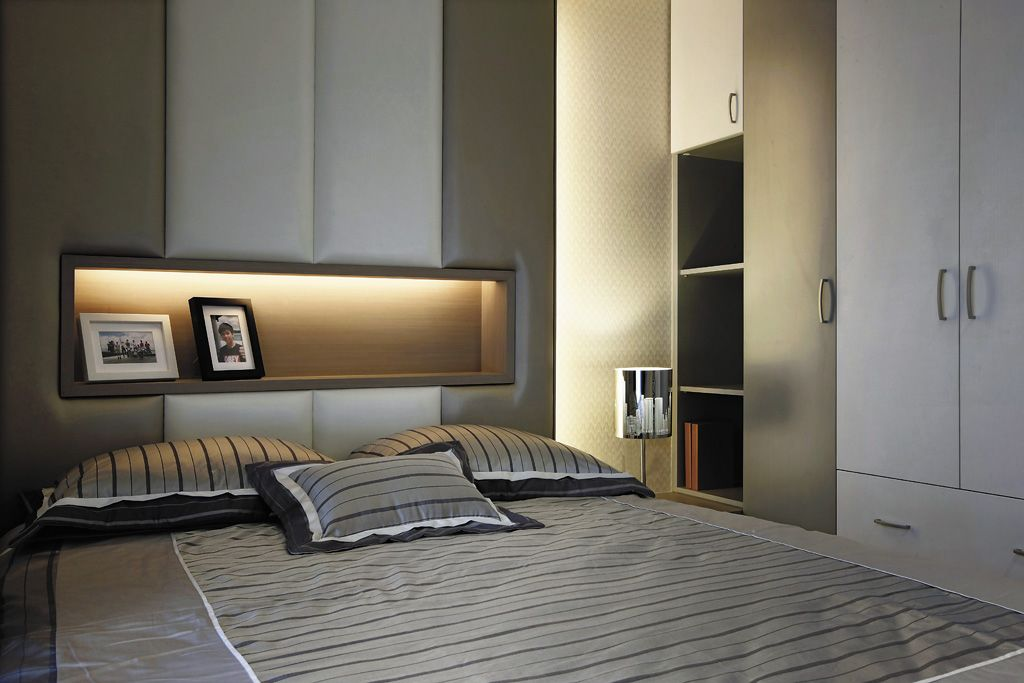 時尚現代風臥室 軟包背景墻設計