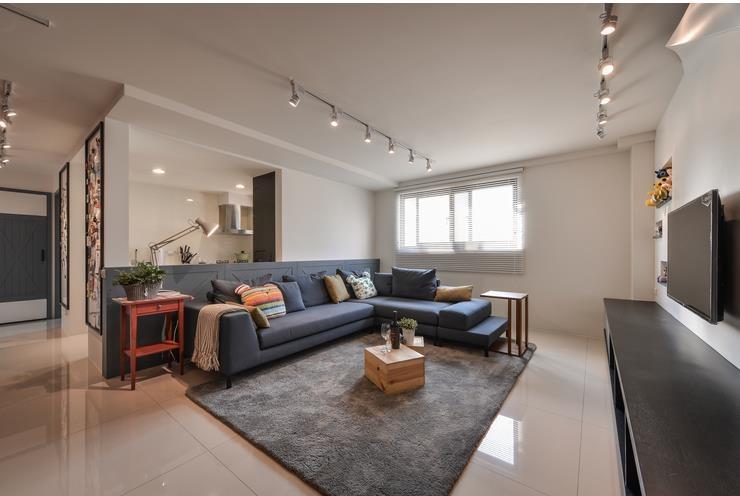 彩色宜家北欧风格 两室两厅效果图
