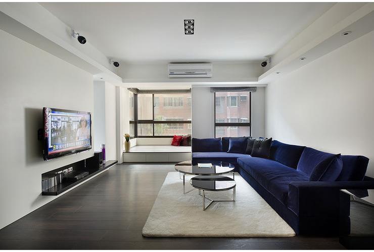 现代简约装修三室两厅效果图