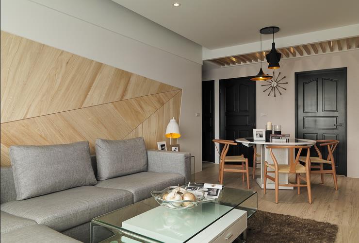 原木現代時尚設計二居室內裝修效果圖