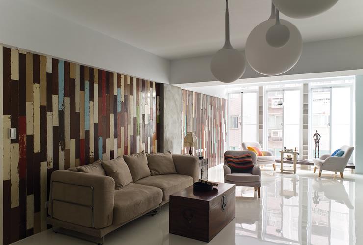 現代混搭風格創意設計家居客廳裝潢效果圖