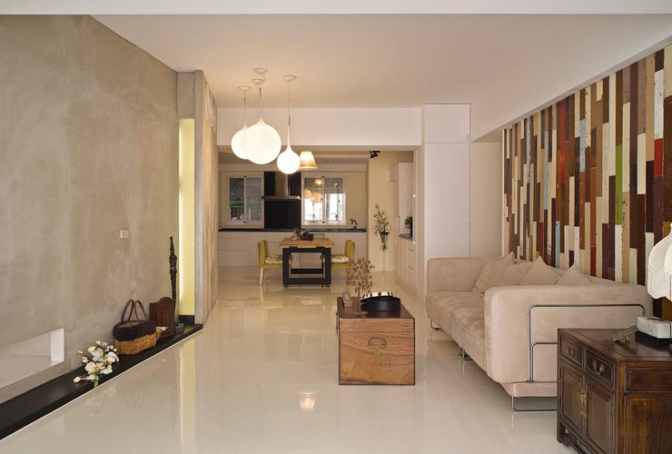 时尚现代创意客厅沙发涂鸦背景墙装饰设计_装修百科