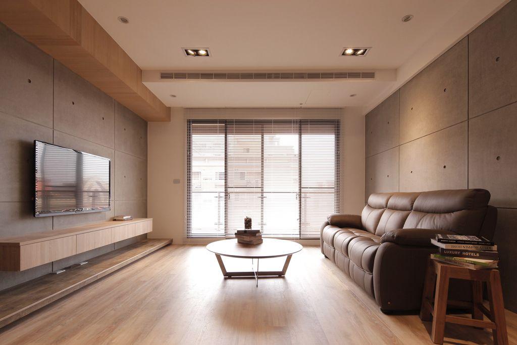 日式设计装修二居客厅装潢案例图