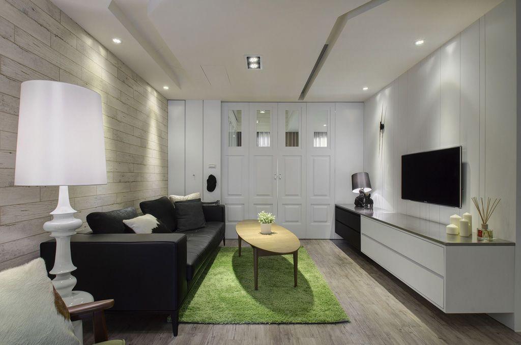 黑白時尚簡約客廳裝飾大全