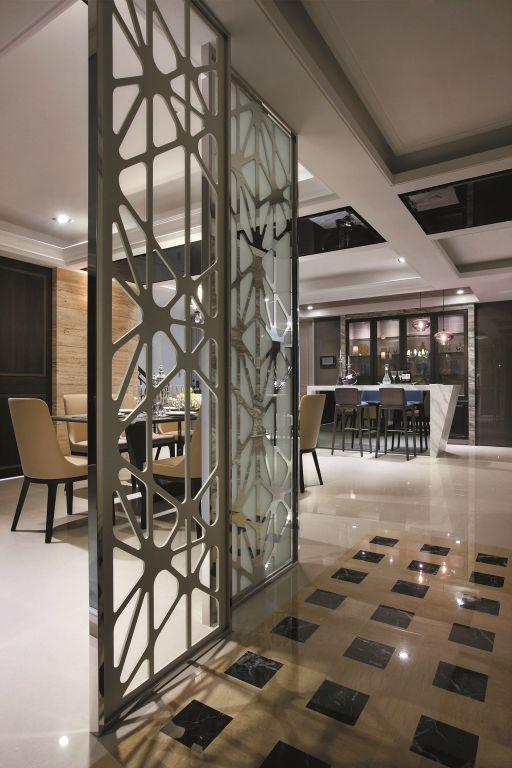 時尚現代設計家居室內隔斷裝飾圖_裝修百科